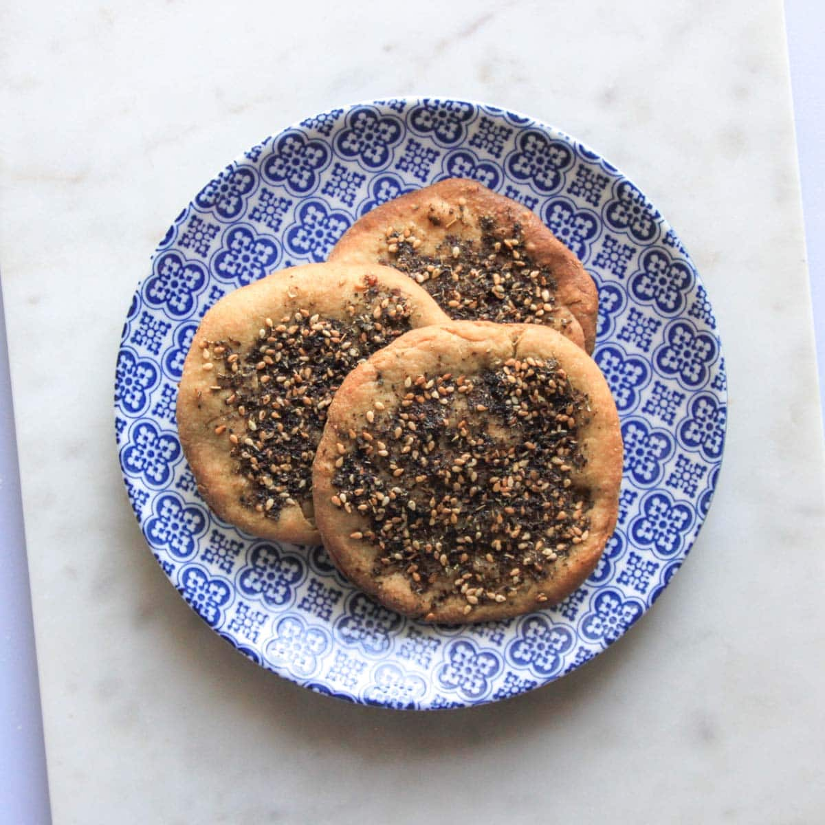 cooked manakeesh on a plate