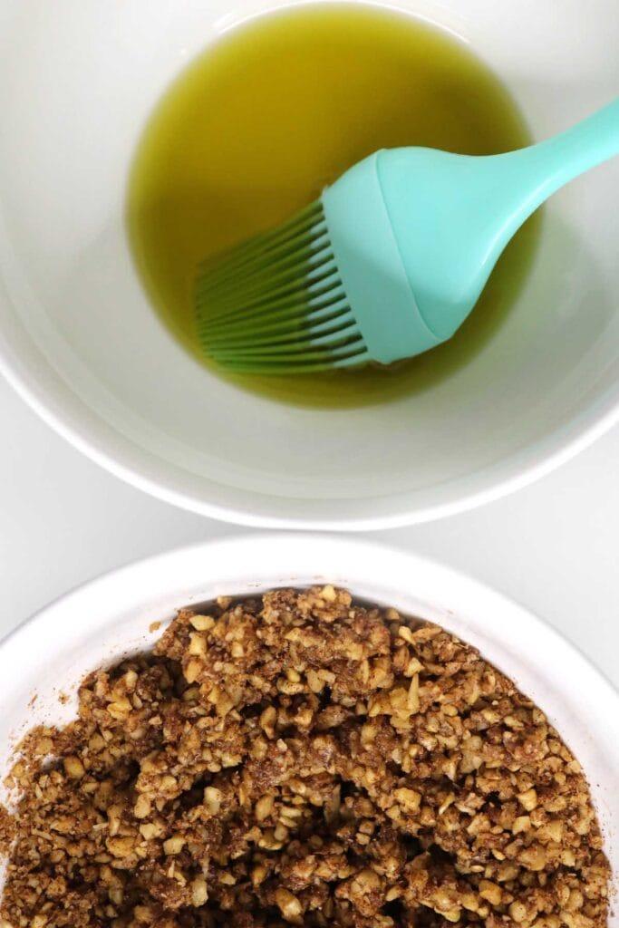 ghee and walnut mixture