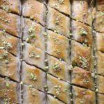 baklava rolls in a pan