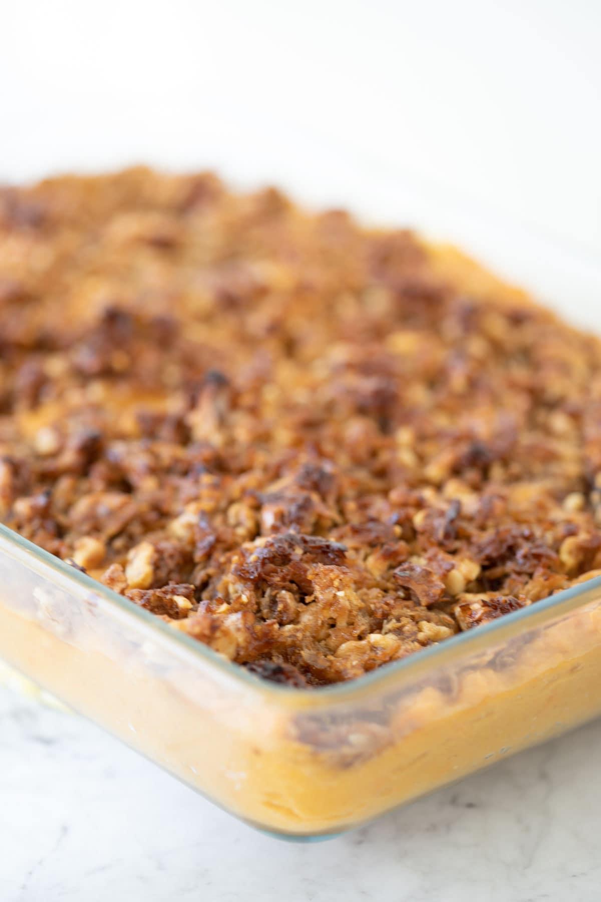 sweet potato souffle with walnuts