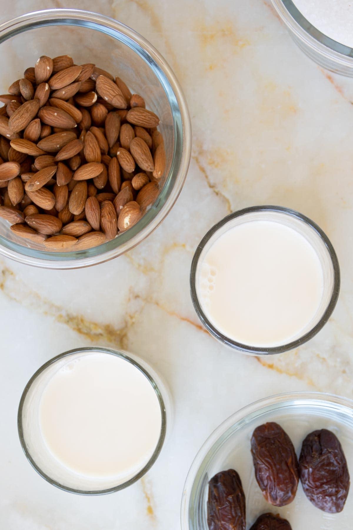 ingredients needed to make almond milk