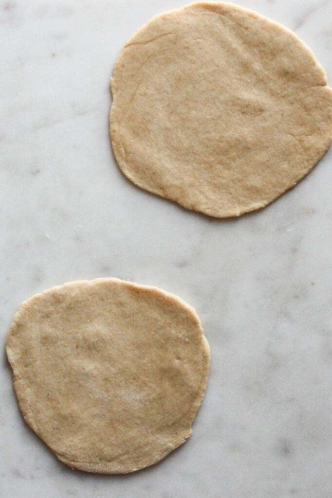 roll dough into a pizza shape