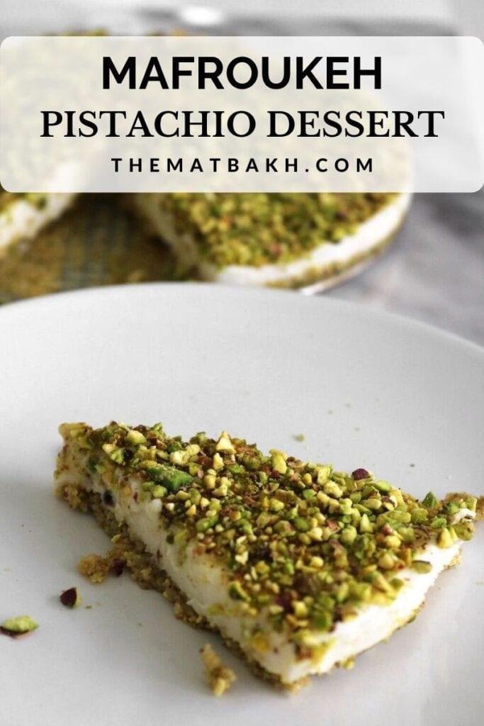 mafroukeh pistachio dessert