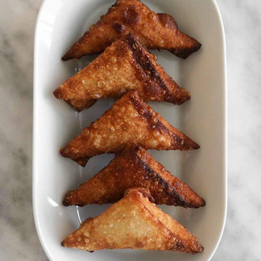 easy fried cheese samosas