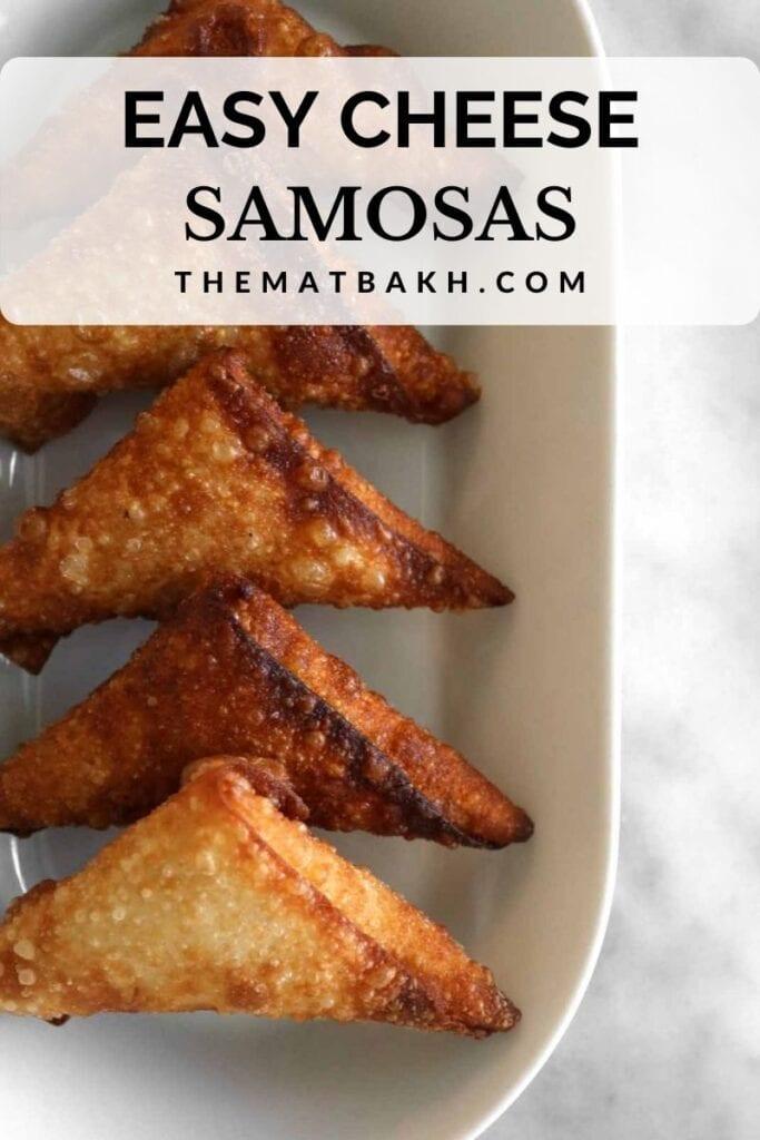 easy cheese samosas