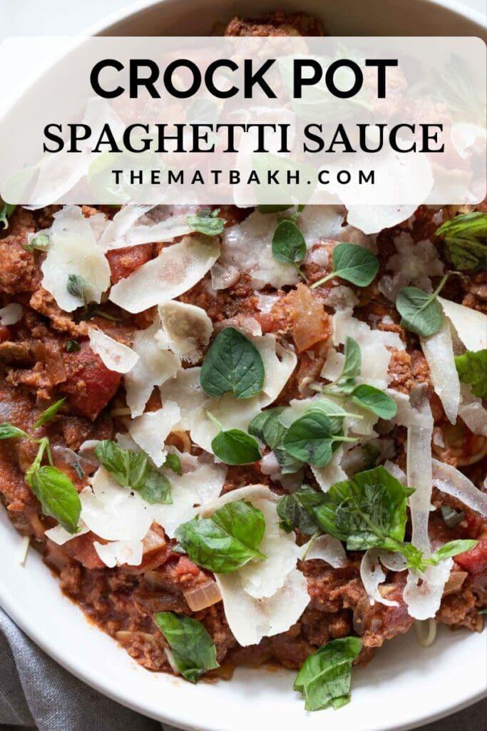 homemade crock pot spaghetti sauce with meat