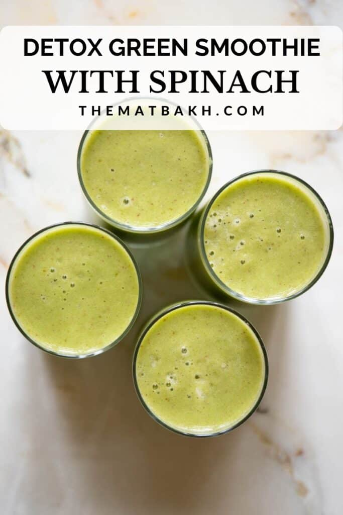 detox green smoothie with spinach pinterest pin