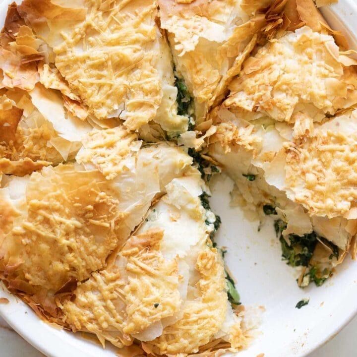 easy spanakopita recipe with fresh spinach