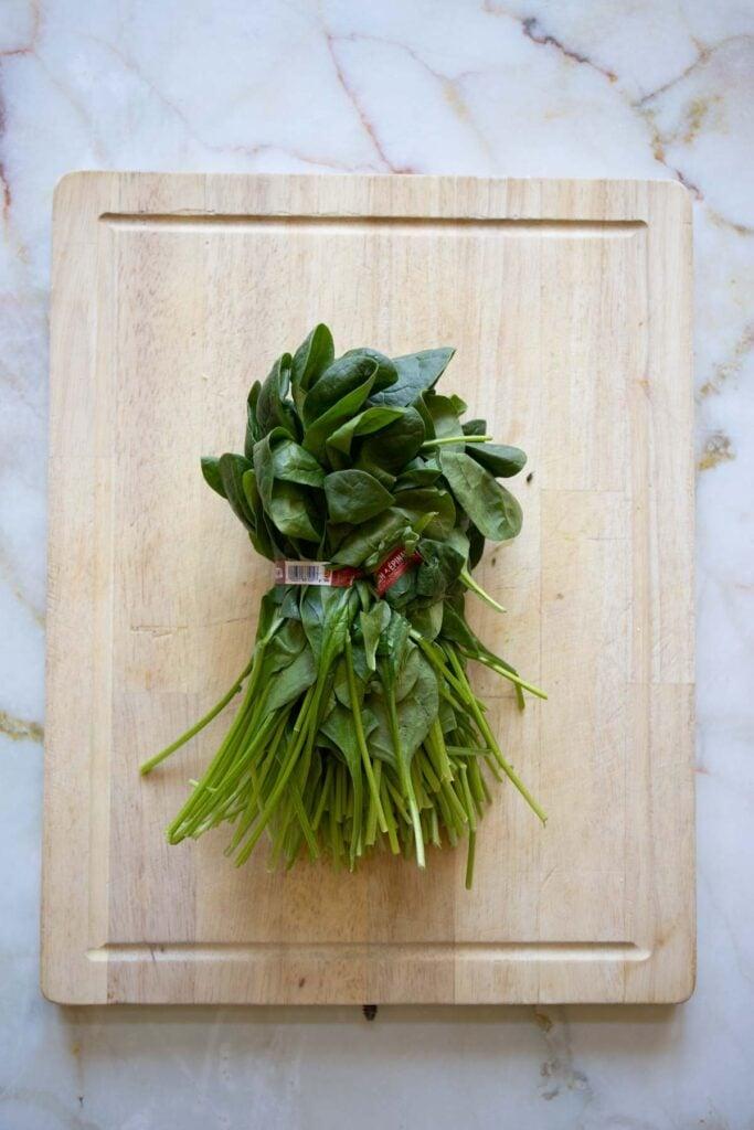 a spinach bunch