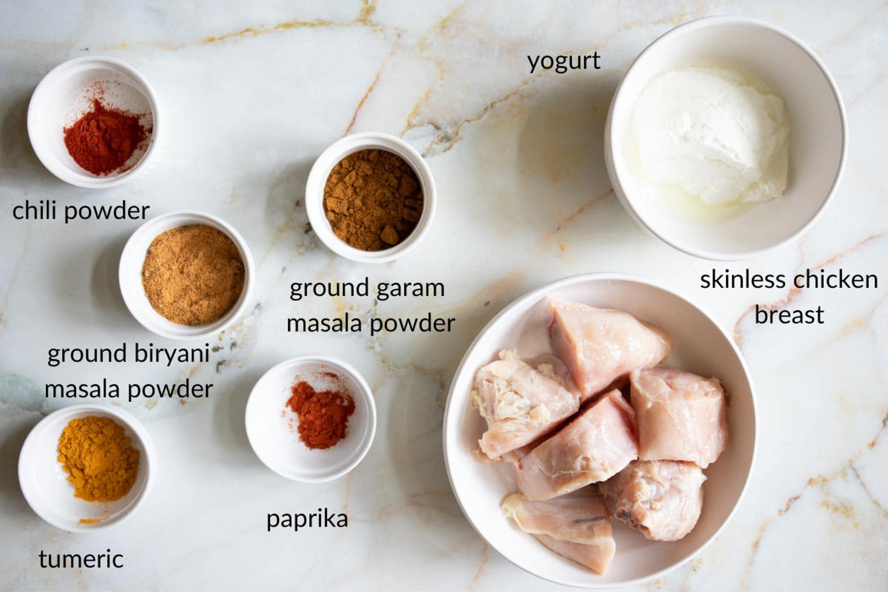 chicken biryani marinade ingredients
