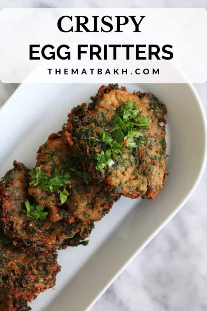 crispy egg fritters on a plate