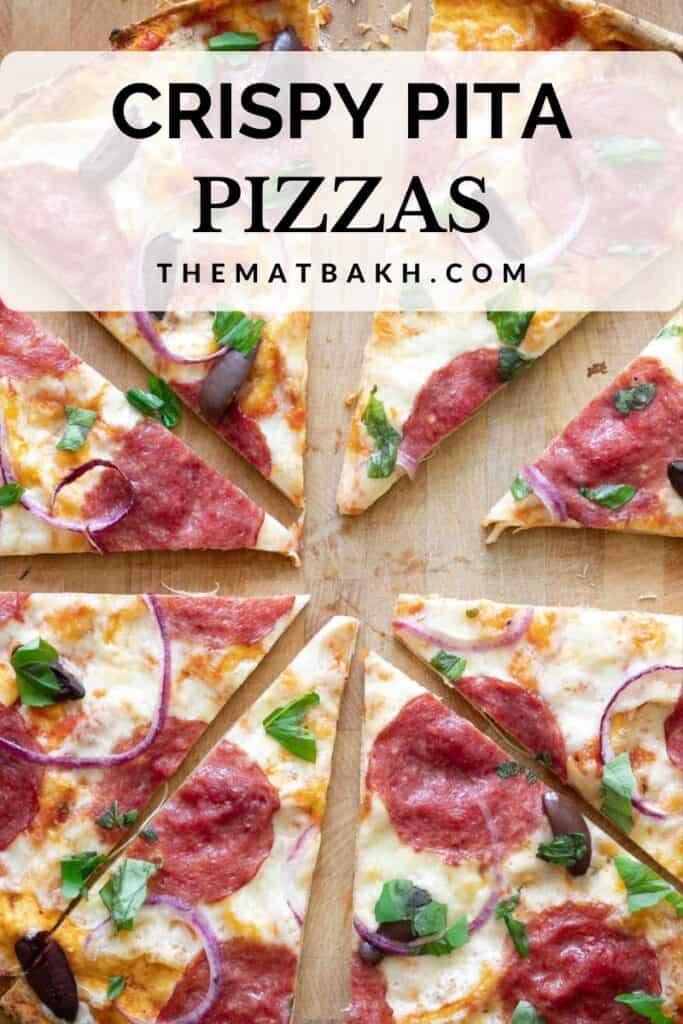 crispy pita pizza