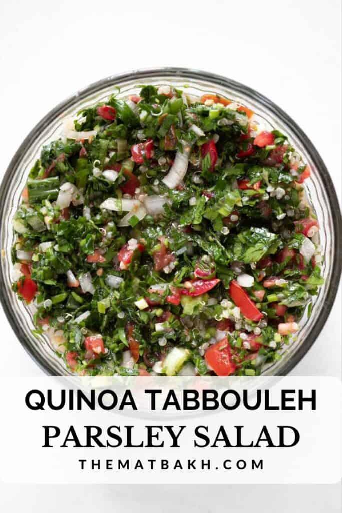 quinoa tabbouleh parsley salad