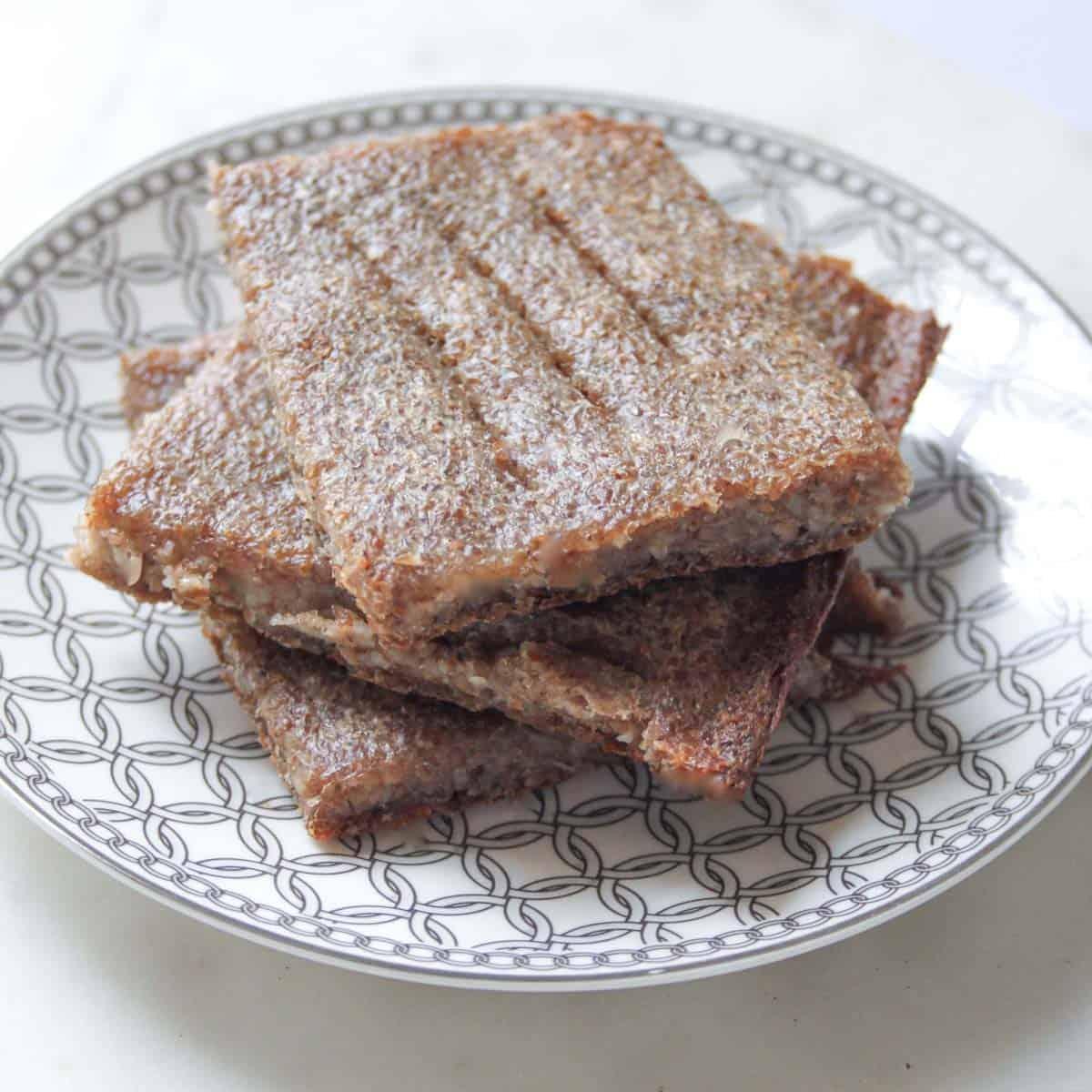 baked kibbeh on a plate