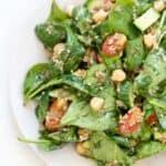 lentil quinoa salad with spinach