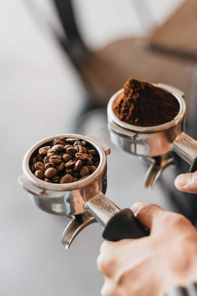 comparing whole bean to ground coffee