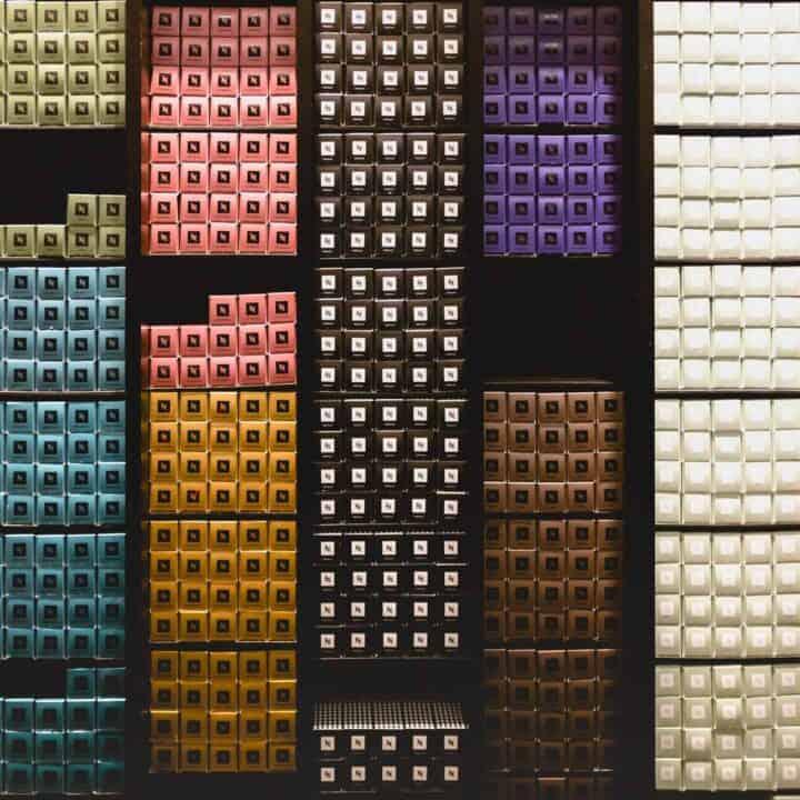nespresso capsule wall