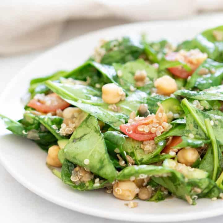 quinoa salad recipe on a plate