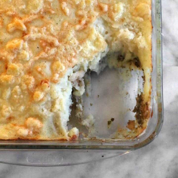 easy ground lamb shepherd's pie