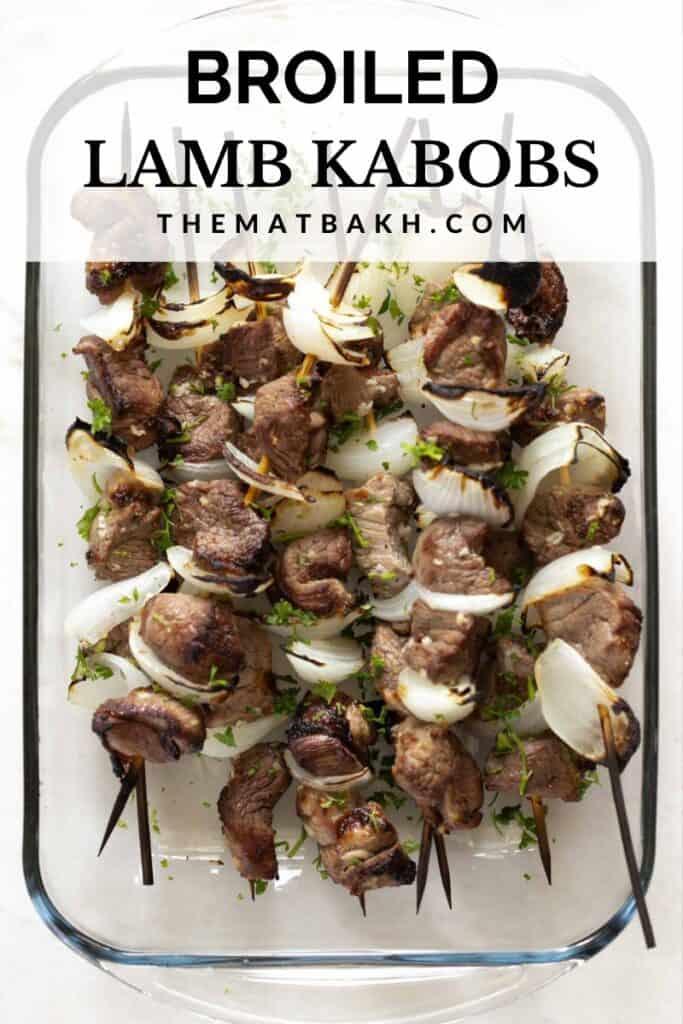 broiled lamb kabobs pinterest pin