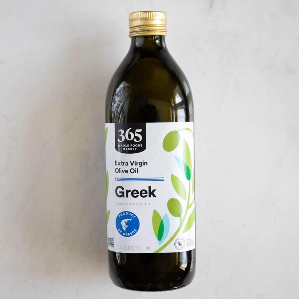 Greek olive oil bottle