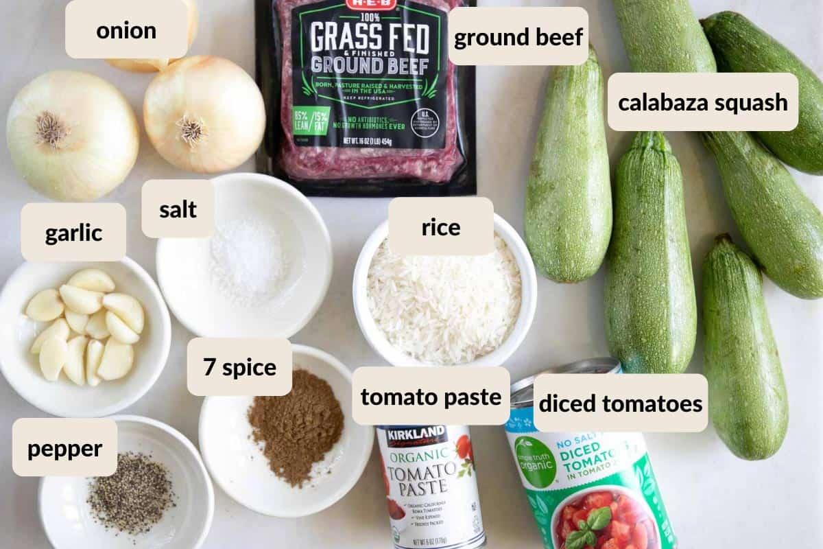 mahshi sliced kousa ingredients
