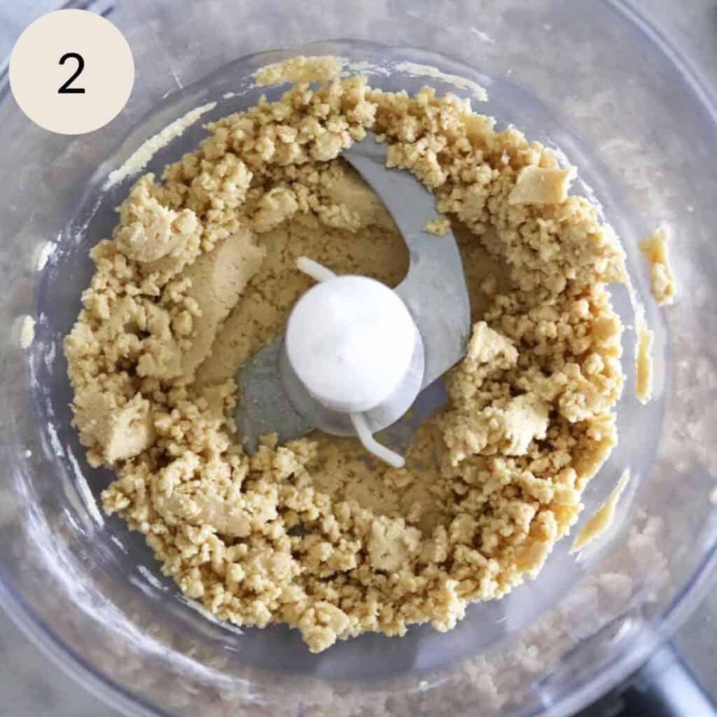 blend the tahini, milk powder, and powdered sugar in a food processor
