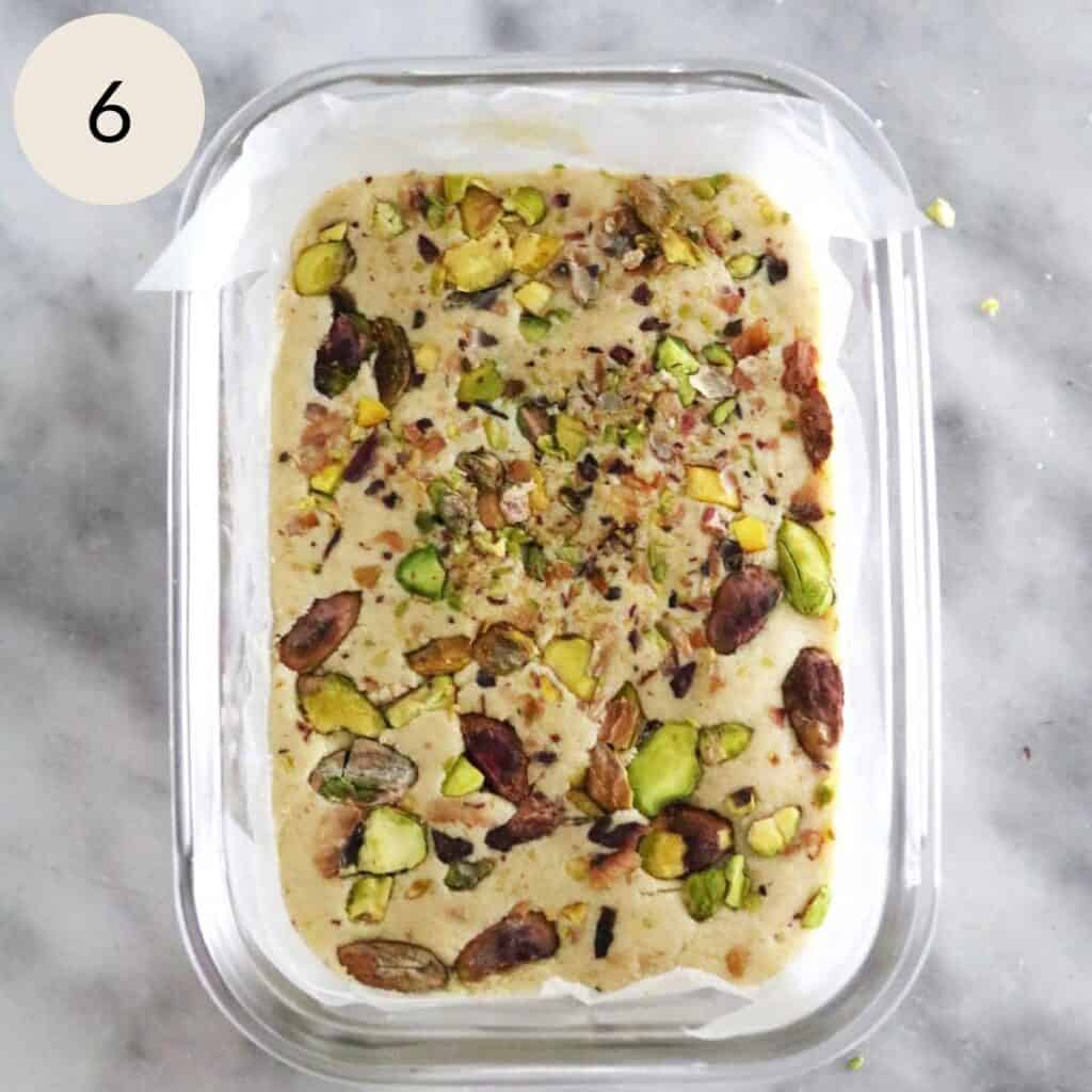 sprinkle some chopped pistachios on top