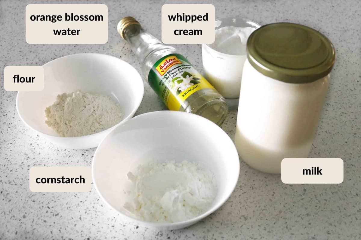 ingredients needed to make homemade ashta cream