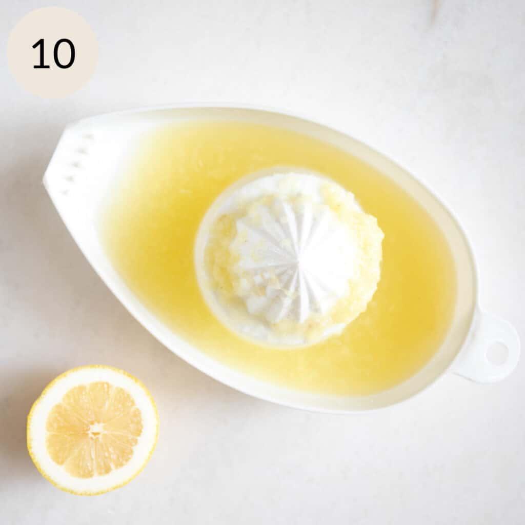 squeeze the lemon juice
