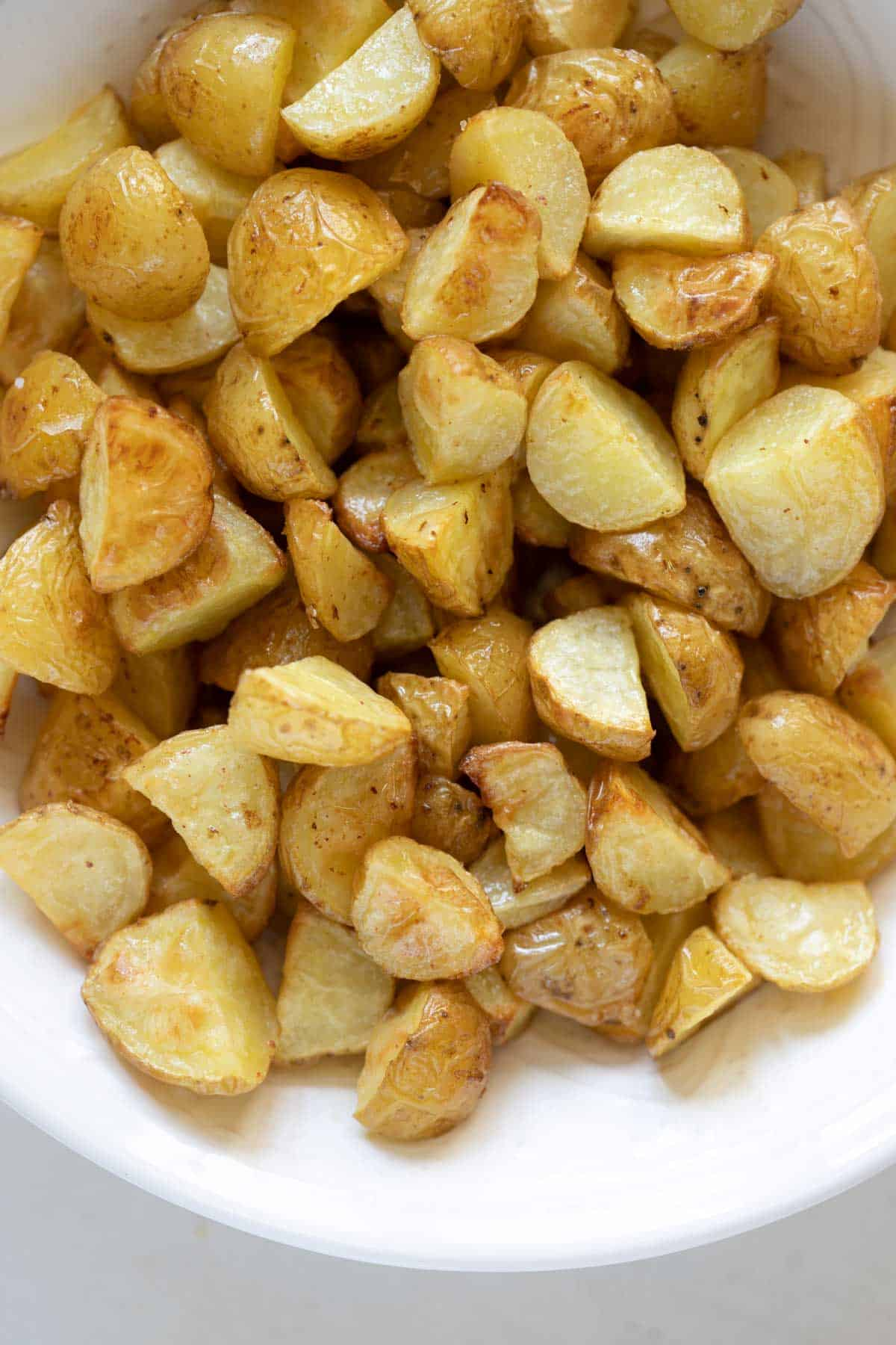 butter roasted potatoes in a bowl