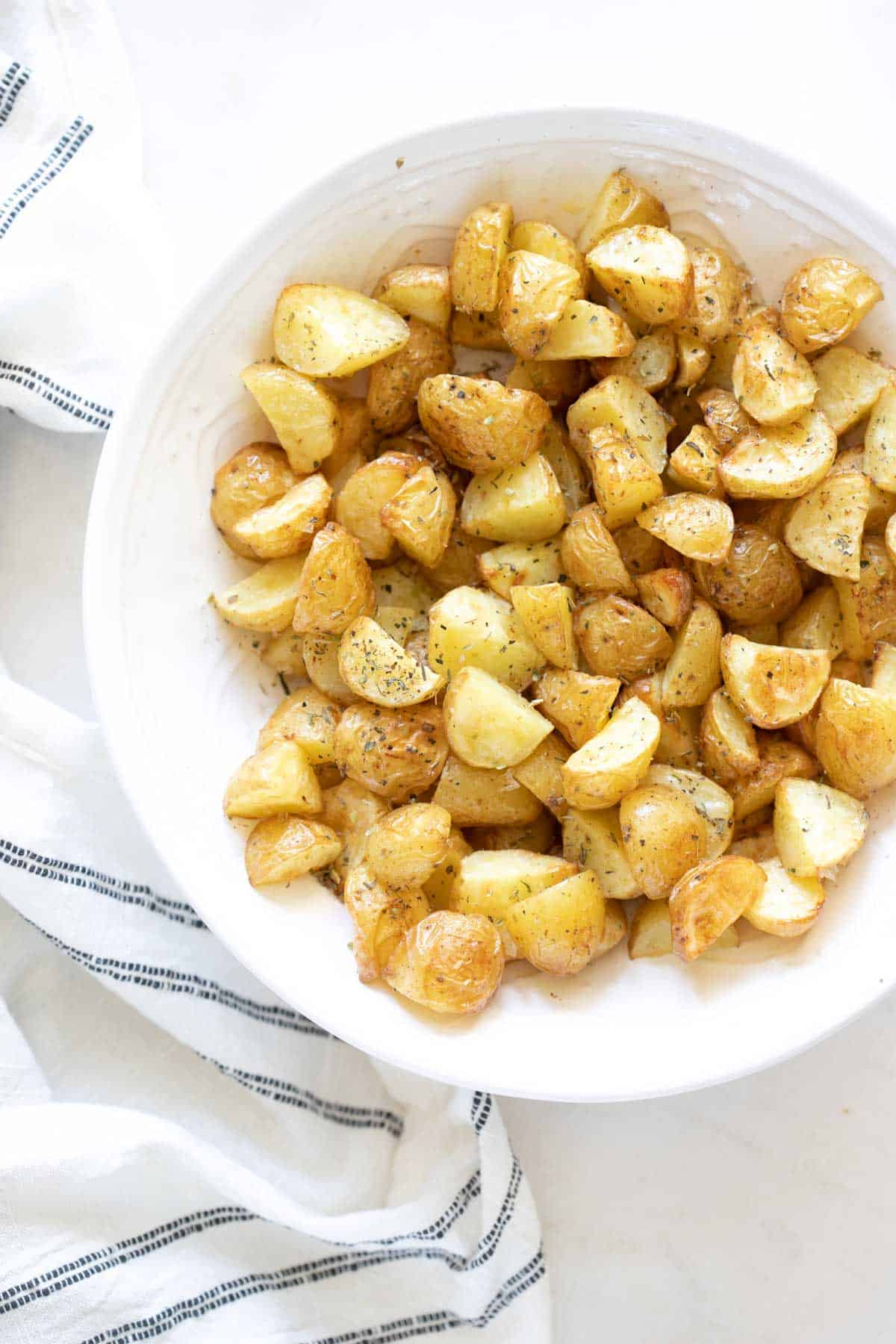 Italian and butter roasted baby potatoes
