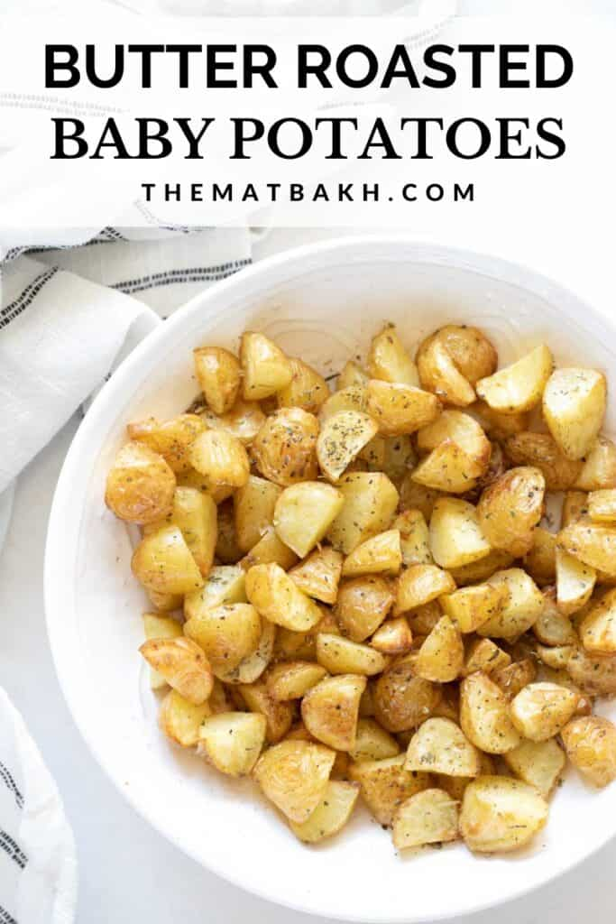 butter roasted baby gold potatoes