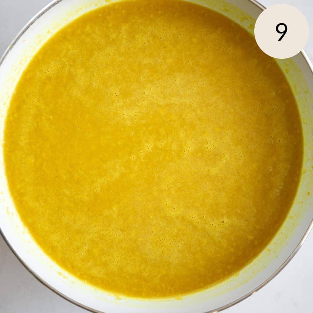 add water to the turmeric basmati rice