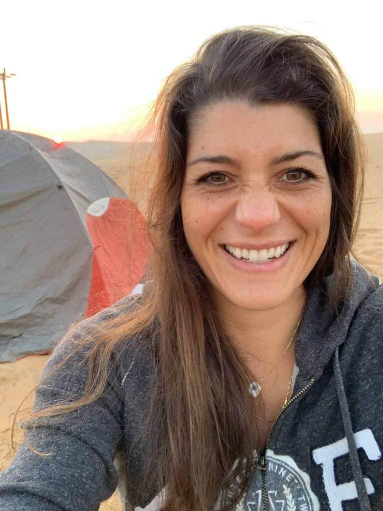 lilian boukheir camping in the desert