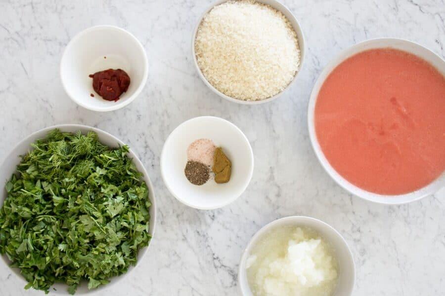 ingredients for making mahshi crumb