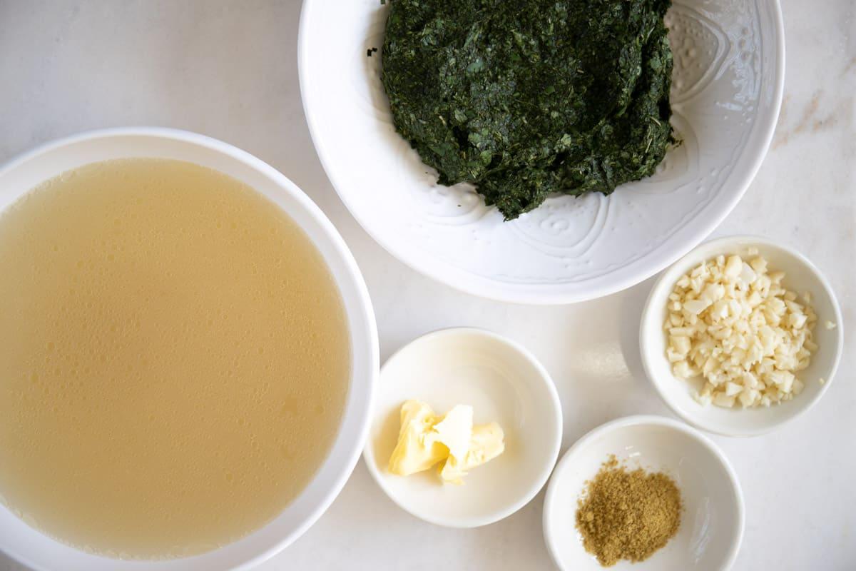 ingredients needed to make mulukhiyah