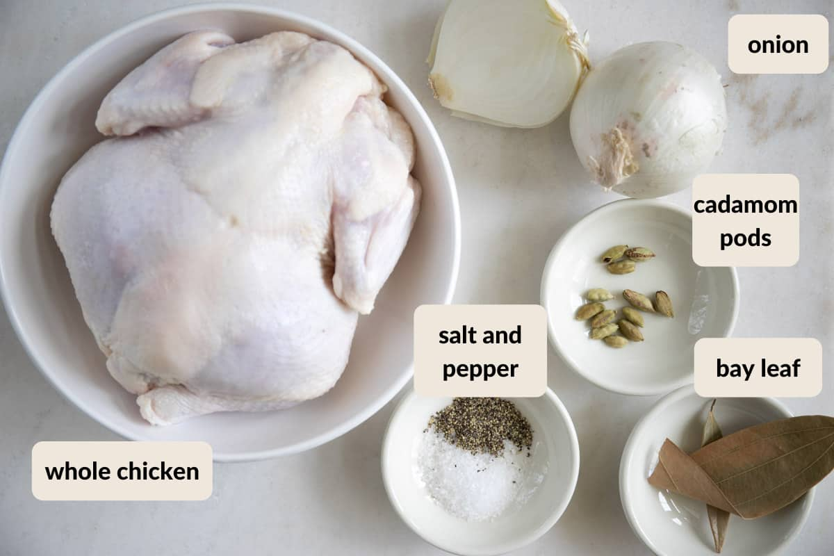 ingredients needed to make chicken broth