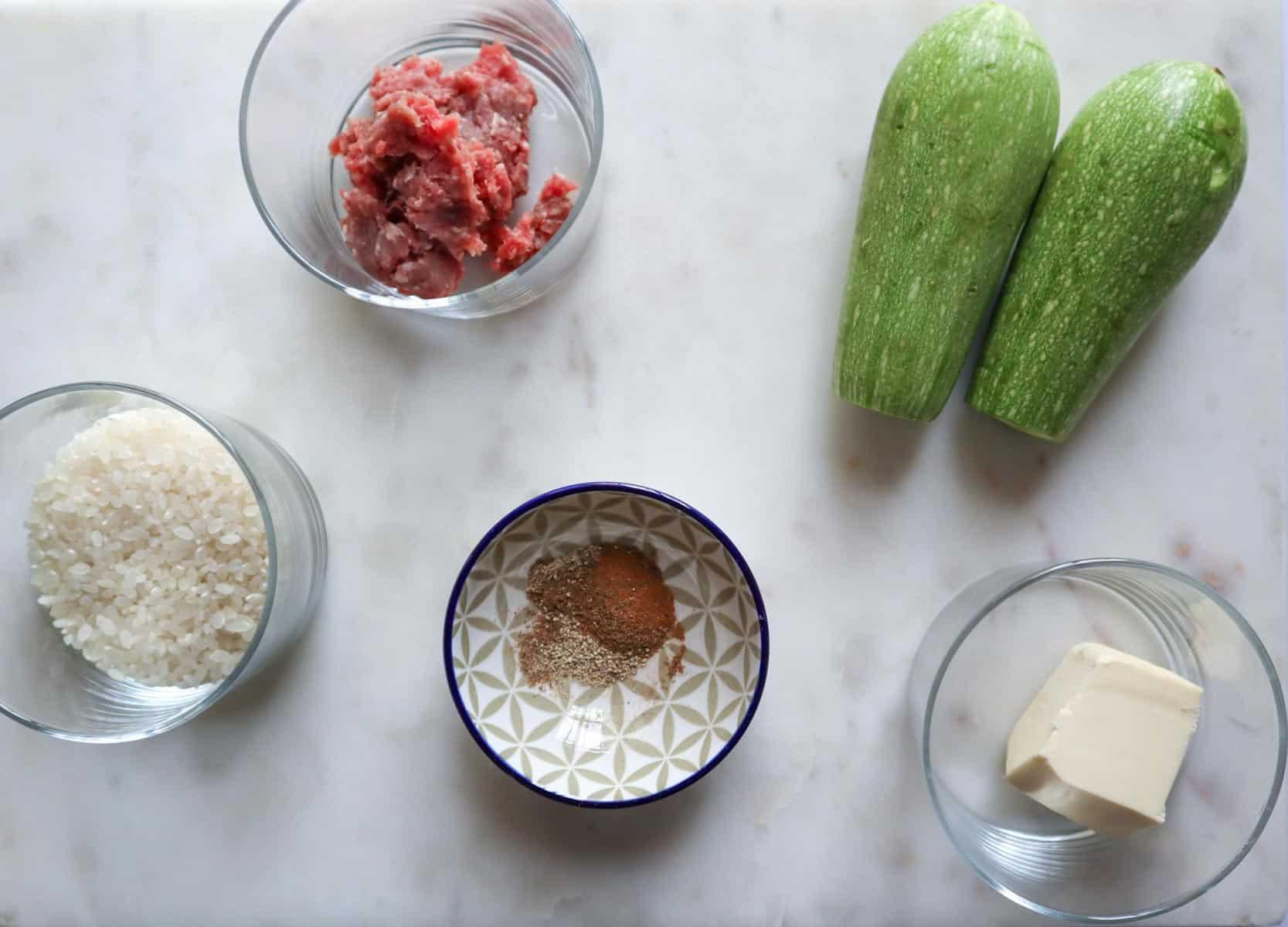 ingredients needed to make mahshi kousa