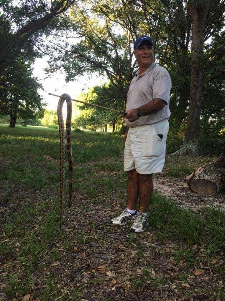 elie boukheir with a snake