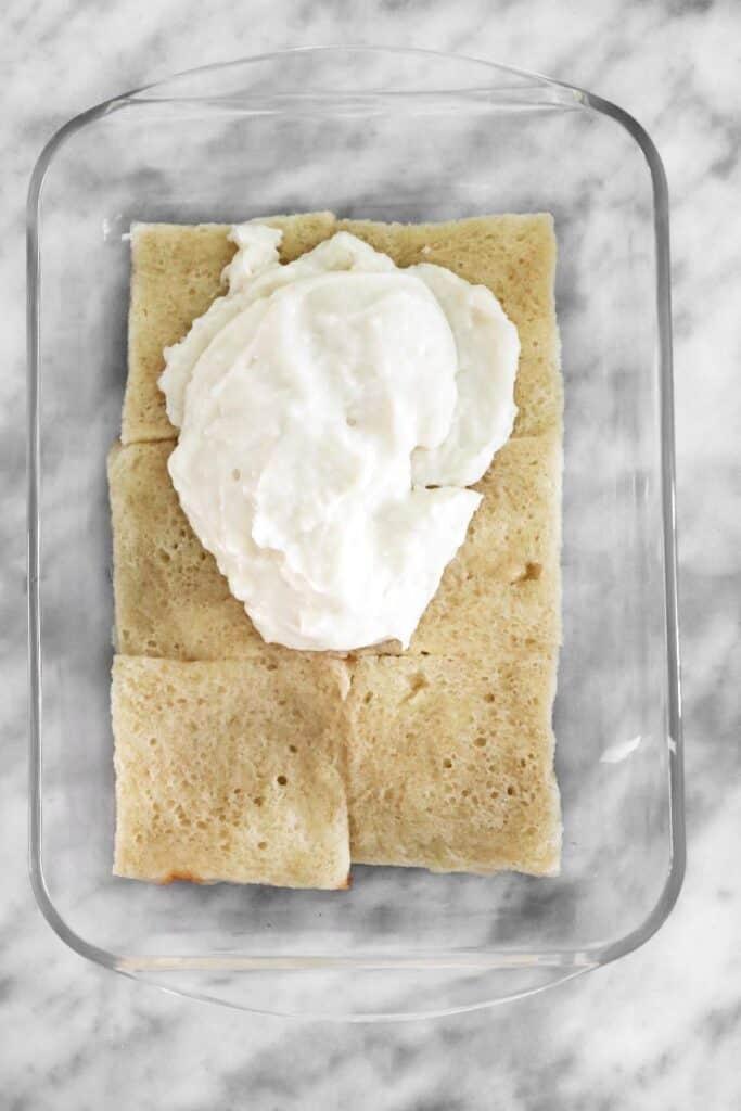 ashta on top of bread