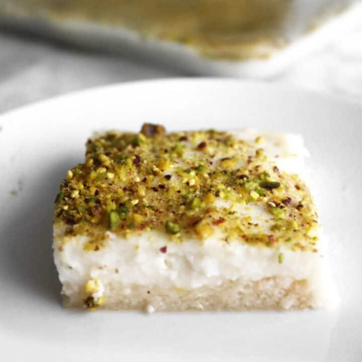 aish al saraya on a plate