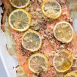 roasted steelhead trout with garlic lime butter