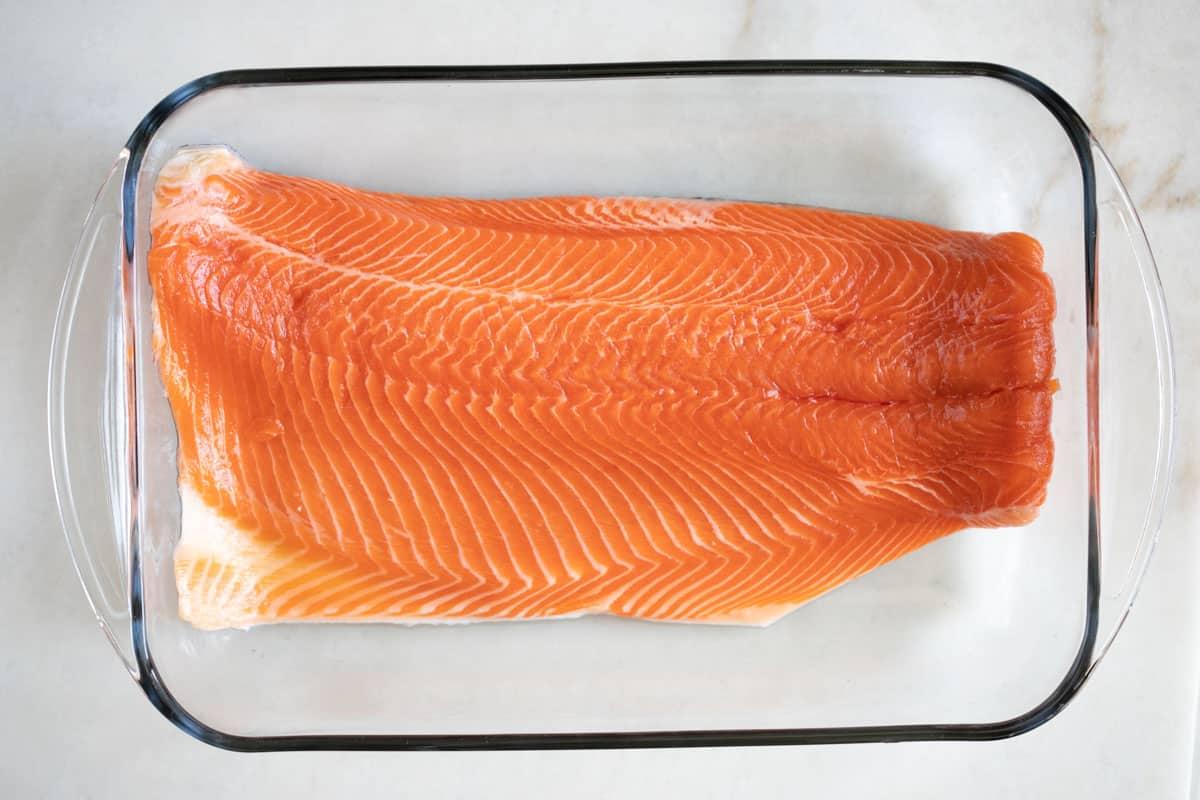 raw steelhead trout fish
