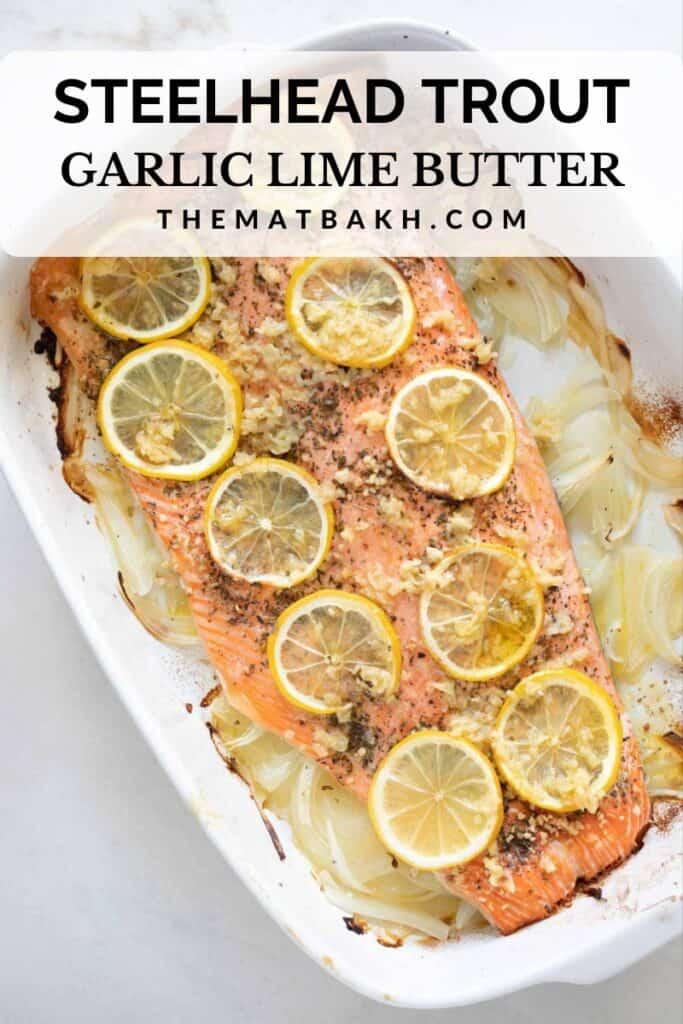 steelhead trout garlic butter pinterest pin