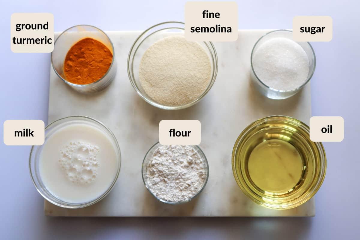 sfouf turmeric cake ingredients